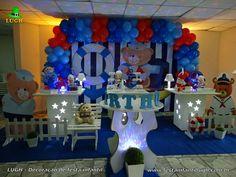 Decoração para festa de aniversário infantil de 1 ano tema Ursinho Marinheiro