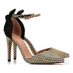 Scarpin Salto Alto Tramado Maia - UZA Shoes