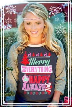 Merry Everything, Happy Always Tee Only $23.99 & FREE Shipping!