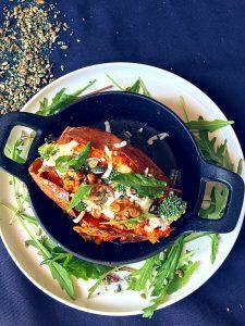 Patate douce rôtie au chèvre frais | Healthy Flavor l Recette cuisine