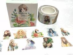 cute girl washi tape 10M x 2cm sweet girl teen girl pretty Japanese comic girl natural beauty masking tape girl planner diary sticker decor by TapesKingdom on Etsy https://www.etsy.com/listing/502176670/cute-girl-washi-tape-10m-x-2cm-sweet