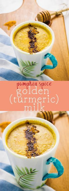 Pumpkin Spice Golden Milk (Turmeric Milk) is the most delicious and nutrient-dense milk drink you'll ever taste! It's the perfect night cap and is vegan! via http://jessicainthekitchen.com