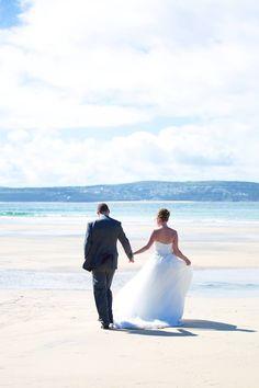 St Ives Wedding #bride and #groom #barefoot on the #beach #wedding #Cornwall #stives #beachwedding #sandbetweenhertoes