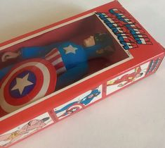 "CAPTAIN AMERICA * MEGO 8"" 1973 * 100% ALL ORIGINAL * MINT IN BOX * MARVEL 