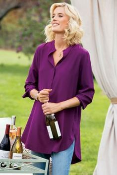 3X Supreme Silk Tunic - Silk Tunic, Tunic Shirt   Soft Surroundings