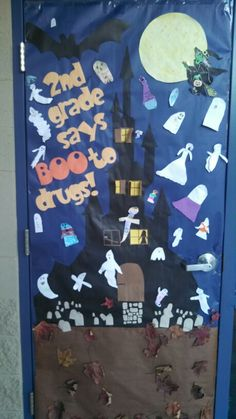 Red Ribbon Week door boo to drugs 2nd grade
