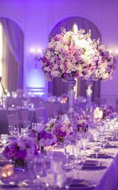 Gorgeous wedding reception centerpiece idea; Featured Photographer: Joseph Mark Photography
