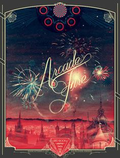 Arcade Fire poster by Burlesque Design
