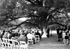 Outdoor ceremony  Part of the Melanie + Jake wedding inspiration board.