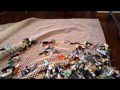 How to make shag rug out of old t-shirts - YouTube