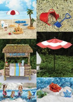 42 Fairy Garden Ideas - Fairy beach!