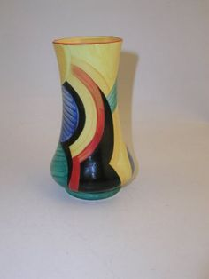 Art Deco Geometric Vase by Susie Cooper, 1928