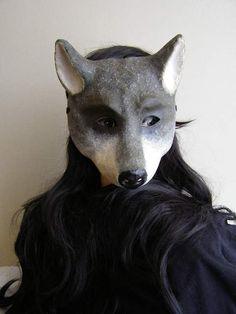 Masquerade mask Wolf mask Paper mache mask