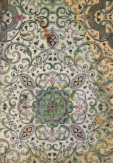 Vintage Wallpaper - not sure of the designer - but pretty nonetheless