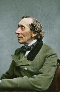 Colorized photograph of Hans Christian Anderson