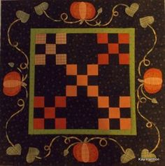 Pumpkin Spice - published in Primitive Quilts and Projects Fall 2013
