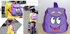 Dora the Explorer Plush Backpack Child PRE School Bag Toddler Size New **************************************** תיק גן של דורה בצבע סגול, מתאים במיוחד לקטנטנים שלכם.   מחיר: כ 39 שקל כולל משלוח! מידות: 25X23X6.5 מוצר פופולארי: נמכרו מעל 400 יחידות!