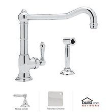 View the Rohl A3650/11LMWS-2 Cinquanta Kitchen Faucet in Polished Chrome with Side Spray and Metal Lever Handle at FaucetDirect.com.680/748