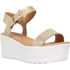 809c371c449e Miss KG Poppy Platform Cleated Sole Wedges ( 39) ❤ liked on Polyvore  featuring shoes