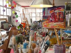Beautiful chaos -- my kind of creative space! {definitely!}