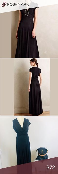 Anthropologie- Maeve black maxi dress (Size M) This Anthropologie (Maeve  brand) 0f3921ea8
