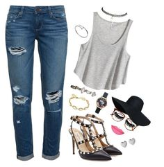"""""""hbic"""" by v3n0m on Polyvore featuring Paige Denim, H&M, Victoria Beckham, Wet Seal, Cartier, Valentino, Boohoo, Anastasia Beverly Hills, Links of London and Kendra Scott"""