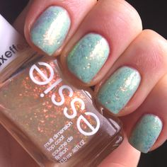 Minted base with shine of the times topcoat.