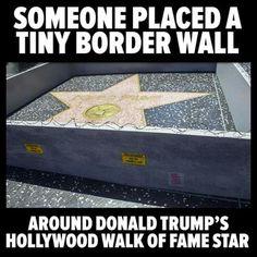 """because technically hes not in the """"walk of fame"""" section. He's in the 'Walk of Shame"""" Section. lol im sorry i had toooooooo"""