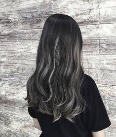 Hair Color Streaks, Hair Dye Colors, Real Human Hair Extensions, Tape In Hair Extensions, Black Hair With Highlights, Hair Highlights, Hair Color Underneath, Korean Hair Color, Brown Blonde Hair