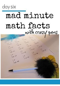 One rockin thing about tabletop surprises is that kids can learn and play independently. On their own time, when they're up for it. These mad minute math facts make learning math fun with the crazy pens that go with them. It's a great way to take an educational activity and turn it into a fun learning activity for kids! #teachmama #mathforkids #learningmath #educationalgame #learningactivities #math #education #mathwork #kidsactivity