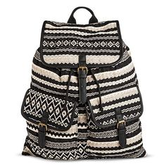 Women's Backpack Handbag Black/White - Mossimo Supply Co. : Target
