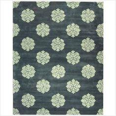 Slate blue rug