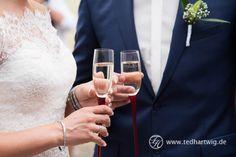 Sekt. Hochzeitsfotos