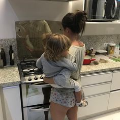 My beautiful wife in the kitchen with our baby on her hip is the best view to wake up to! Cute Family, Baby Family, Family Goals, Baby Momma, Mom And Baby, Baby Kids, Cute Kids, Cute Babies, Future Mom