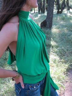 Backless Halter - wondering if I can recreate this.