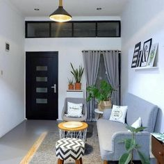 Image may contain: living room, table and indoor ruang tamu simple Login Tiny Living Rooms, Home Living Room, Living Room Designs, Cozy Living, Small House Interior Design, Home Room Design, Rooms Home Decor, Minimalist Living, Apartment Design