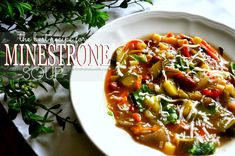 Perfect Minestrone Soup used one can of tomatoes with green chilies, a perfect spice!