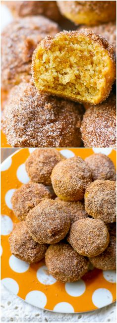 Perfectly little pumpkin muffins coated with cinnamon sugar. They taste like your favorite pumpkin muffins from the bakery!