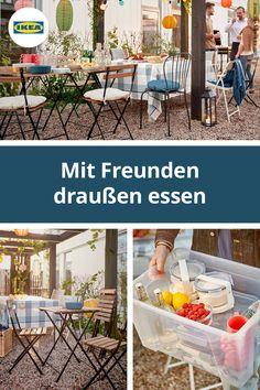 IKEA Deutschland | Es ist Sommer. Der perfekte Zeitpunkt also, viele Aktivitäten ins Freie zu verlegen. Sobald die Entscheidung für den Ort der Party gefallen ist, verwandelst du ihn mit so geringem Aufwand wie möglich in eine tolle Location. #IKEA #Balkon #outdoor #Sonne #Gartenmöbel #Terasse #Garten #Balkon #draußen #essen #party #midsommar #scandi #skandi #scandinavian Ikea Outdoor, Outdoor Decor, Location, Party, Outdoor Furniture Sets, Garden, Home Decor, Summer Evening, Ikea Products