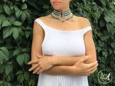 Bead Jewellery, Wire Jewelry, Jewlery, Pearl Choker, Flora, Vintage Jewelry, Chokers, Pearls, Crystals