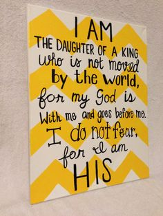 I Am the Daughter of a King Canvas by MegansCanvases on Etsy