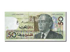 Billets Maroc (Banknotes Morocco), Maroc, 50 Dirhams type Hassan II