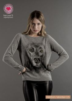 6153-1020 how wonderful can life is with a perfect pullover! #dog #ilovemydog #cashmere #sweater #sprayart #herzens #herzensangelegenheit