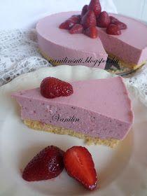 Süss Vanilinnel!: Epres-mascarponés joghurttorta Cheesecake, Food And Drink, Cheesecakes, Cherry Cheesecake Shooters
