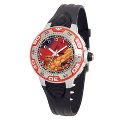 "Marvel Comics Kids' MA0108-D379-Red Marvel Thing Spectrum Watch Marvel Comics. Save 64 Off!. $12.46. Silvertone luminous hands. Uni-directional rotating bezel. Water-resistant to 99 feet (30 M). Kid's marvel ""spectrum"" watch with marvel character on the dial. Black rubber strap"