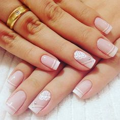 Healthy easy breakfast ideas to lose weight diet food list Bridal Nails, Wedding Nails, Pretty Nail Art, French Tip Nails, Nagel Gel, Manicure And Pedicure, Nail Arts, Nails Inspiration, Cute Nails
