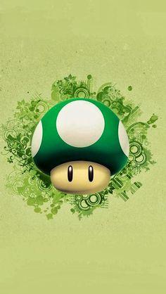 mushroom, green, beautiful