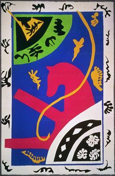 "Henri Matisse - Horse, paper cutout from the series ""Jazz"", 1943/44"