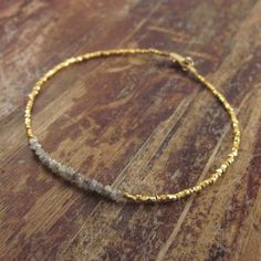 Rough Diamond Bracelet Diamonds in the Rough by TwoFeathersNY