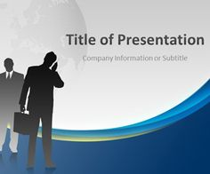 free business man template for powerpoint with a spotlight effect, Modern powerpoint